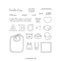 Fastened With Love Photopolymer Stamp Set
