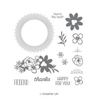 Bouquet Blooms Photopolymer Stamp Set