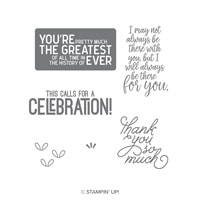 Calls For A Celebration Wood-Mount Stamp Set