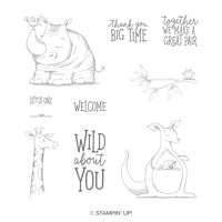Animal Outing Wood-Mount Stamp Set