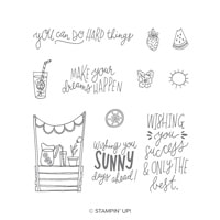 Sunny Days Clear-Mount Stamp Set