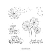 Dandelion Wishes Wood-Mount Stamp Set