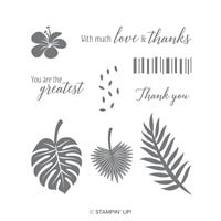 Tropical Chic Wood-Mount Stamp Set