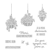 Jardin Suspendu Clear-Mount Stamp Set (French)