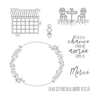 Café Charmant Clear-Mount Stamp Set (French)
