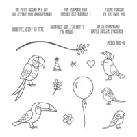 Drôles D'oiseaux Photopolymer Stamp Set (French)