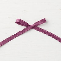 "Fresh Fig 3/8"" (1 Cm) Mini Ruffled Ribbon"