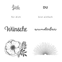 Einfach Wunderbar Clear-Mount Stamp Set (German)