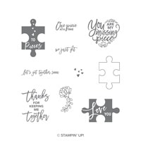 Love You To Pieces Clear-Mount Stamp Set