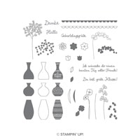 Wunderbare Vasen Photopolymer Stamp Set (German)