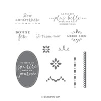 Détaillé Avec Amour Clear-Mount Stamp Set (French)