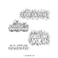 Grands Souhaits Clear-Mount Stamp Set (French)