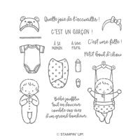 Bébé Mignon Clear-Mount Stamp Set (French)