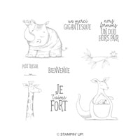 Duos D'animaux Clear-Mount Stamp Set (French)