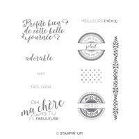 Cousu Avec Soin Clear-Mount Stamp Set (French)