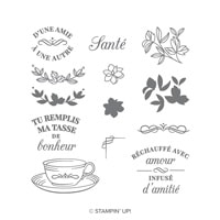 L'heure Du Thé Photopolymer Stamp Set (French)