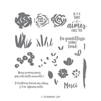 Expression Printanière Photopolymer Stamp Set (French)
