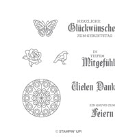 Buntglasgrüße Clear-Mount Stamp Set (German)Buntglasgrüsse