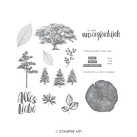 Kraft Der Natur Clear-Mount Stamp Set (German)