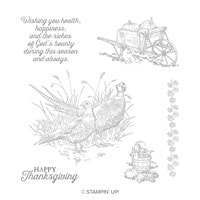Pleasant Phesants Wood-Mount Stamp Set