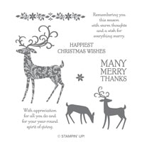 Dashing Deer Clear-Mount Stamp Set