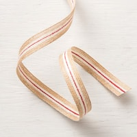 "5/8"" (1.6 Cm) Striped Burlap Trim"