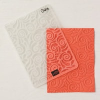 Swirls & Curls Textured Impressions Embossing Folder