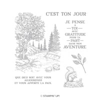 Place À La Sérénité Clear-Mount Stamp Set (French)
