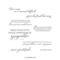 Genitllesse Et Compassion Clear-Mount Stamp Set (French)