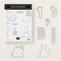 Duos D'Animaux Clear-Mount Bundle (French)
