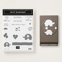 Petit Éléphant Clear-Mount Bundle French)