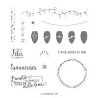 Illuminez Les Fêtes Photopolymer Stamp Set (French)