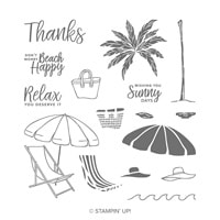 Beach Happy Photopolymer Stamp Set