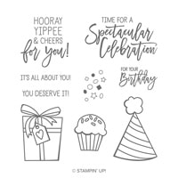 Birthday Cheer Cling Stamp Set