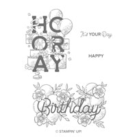 Birthday Statements Cling Stamp Set
