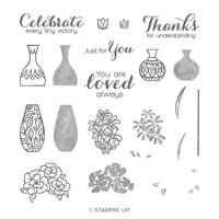 Vibrant Vases Photopolymer Stamp Set
