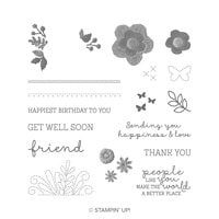 Needle & Thread Photopolymer Stamp Set