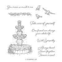 Flowing Fountain Cling Stamp Set