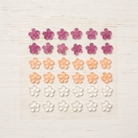Frosted Flower Embellishments