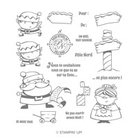 Panneaux De Noël Photopolymer Stamp Set (French)