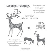 Renne Fringant Clear-Mount Stamp Set (French)
