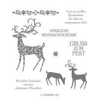 Weihnachtshirsch Clear-Mount Stamp Set (German)