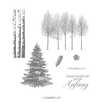 Winterwald Clear-Mount Stamp Set (German)