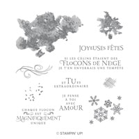 Tourbillon De Flocons Clear-Mount Stamp Set (French)