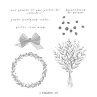 Une Pensée Clear-Mount Stamp Set (French)