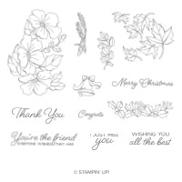 Blended Seasons Wood-Mount Stamp Set
