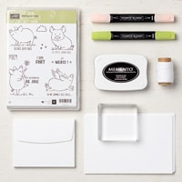Petit Groin Rose Cards Supplies Set (French)