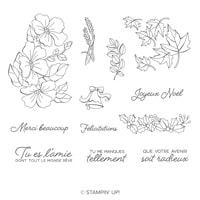 Mariage De Saisons Clear-Mount Stamp Set (French)