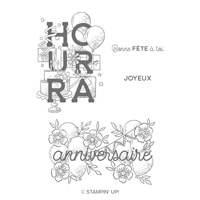 Déclarations D'Anniversaire Cling Stamp Set (French)