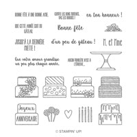 C'Est Du Gâteau Photopolymer Stamp Set (French)